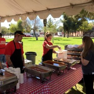 Waldos Barbeque, outside event 2013, Catering location